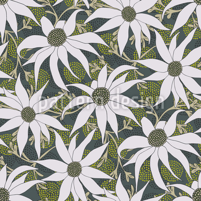 Flannel Flowers Seamless Vector Pattern Design