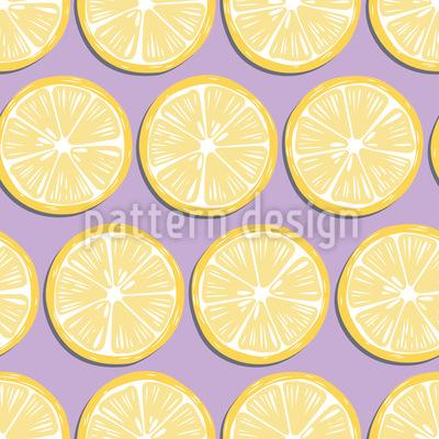 Super Frische Zitrone Nahtloses Vektormuster