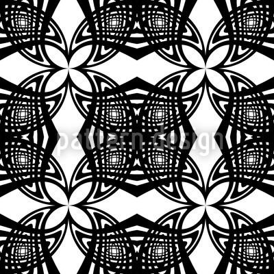Schwarz Weiss Nahtloses Muster