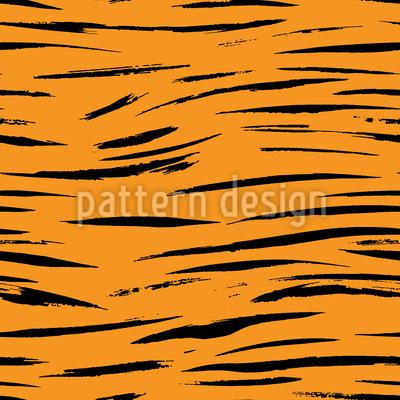 Horizontal Tiger Stripes Seamless Vector Pattern Design