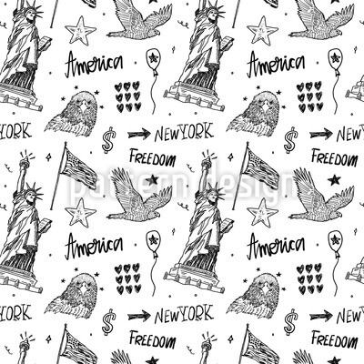 American Elements Seamless Vector Pattern Design