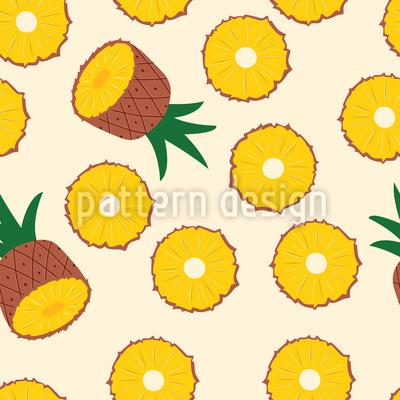 Süße Schwebende Ananas Nahtloses Vektormuster