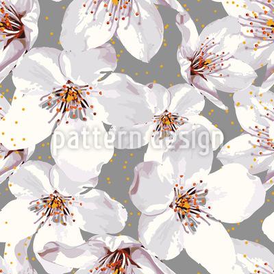 Kirschblütenzeit Nahtloses Vektormuster