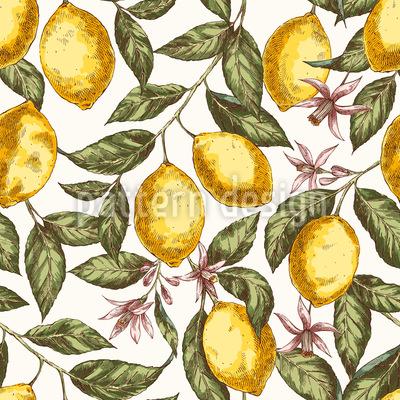 Zitronenstimmung Nahtloses Vektormuster