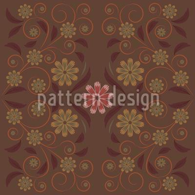 Spiralen Mit Blumen Und Blättern Vektor Ornament