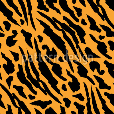 Abstract Tiger Skin Seamless Vector Pattern Design