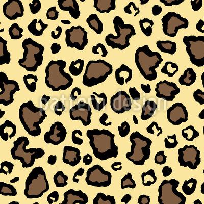 Safari Tierhaut Nahtloses Vektormuster