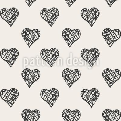Gitter In Herzen Nahtloses Vektor Muster