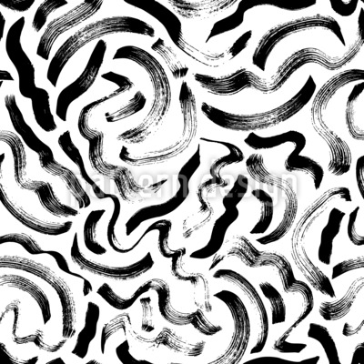 Abstract Wavy Brush Strokes Repeat Pattern