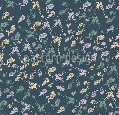 Happy Lines Seamless Pattern