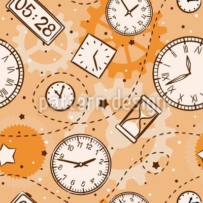 Zeit Vergeht Nahtloses Vektor Muster