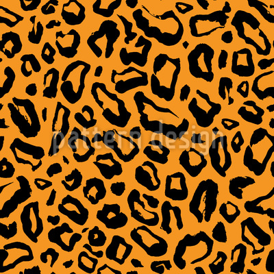 Pele de Leopardo Simples Design de padrão vetorial sem costura