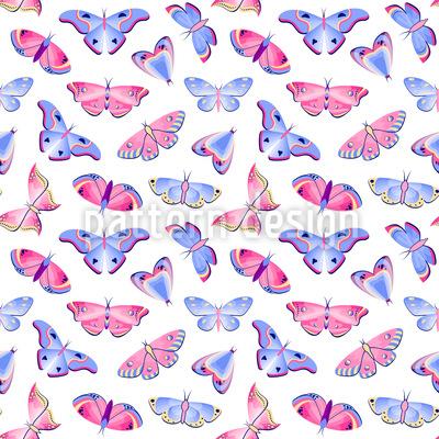 Papillons esthétiques Motif Vectoriel Sans Couture