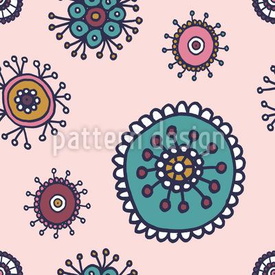 Süsse Flora Rapportiertes Design