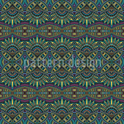 Symmetric Ethno Dream Seamless Vector Pattern Design