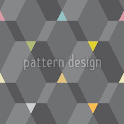 Grade de Formas Design de padrão vetorial sem costura