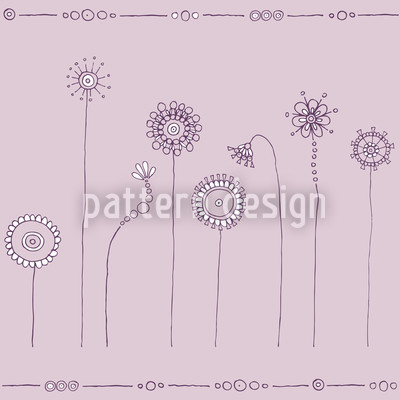 Magic Meadow Purple Pattern Design