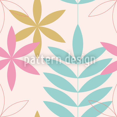 Encore Floral Pastel Seamless Vector Pattern Design
