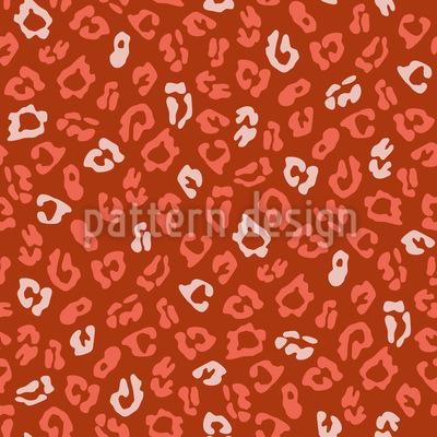 Stylized Leopard Spot Seamless Vector Pattern