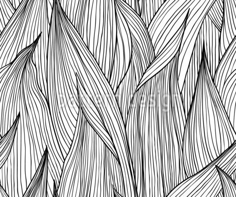 Lange Blätter Nahtloses Vektormuster