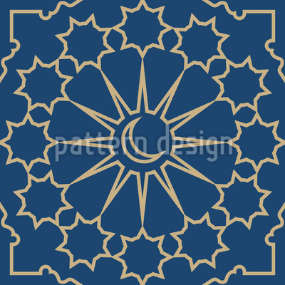 Islamic And Oriental Elements Seamless Vector Pattern Design