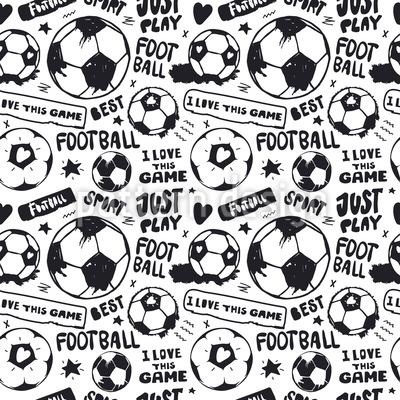 Fußball Liebe Nahtloses Vektormuster