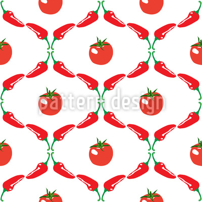 Gemüse-Ästhetik Nahtloses Vektormuster