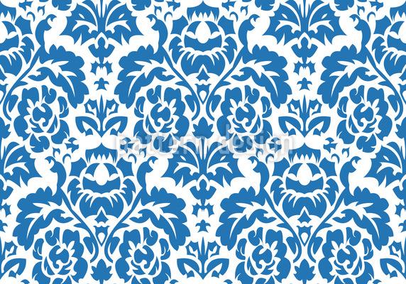 Opulent Blau Nahtloses Vektormuster