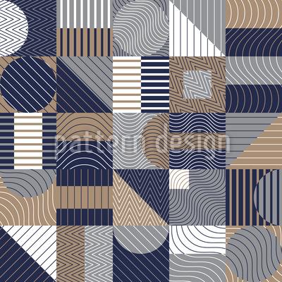 Composition géométrique Motif Vectoriel Sans Couture