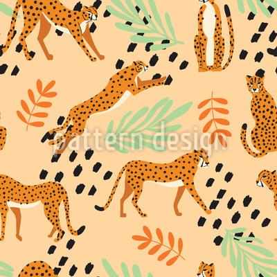 Eine Geschichte Von Geparden Nahtloses Vektormuster