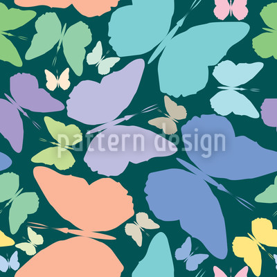 Schmetterlinge Im Blau Vektor Design