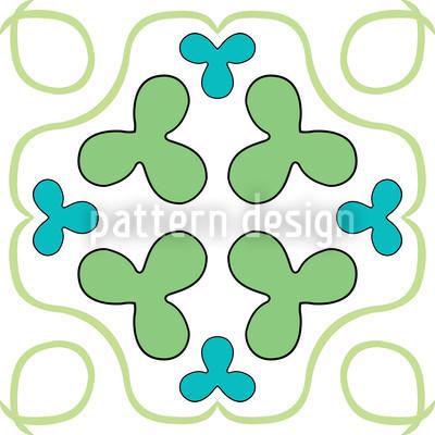 Viel Glück Muster Design
