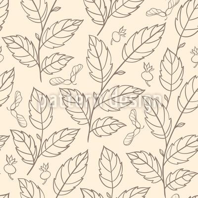 Dança das Folhas de Outono Design de padrão vetorial sem costura