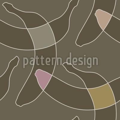 夜のバナナ シームレスなベクトルパターン設計