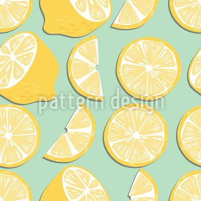 Zitronenparty Nahtloses Vektormuster