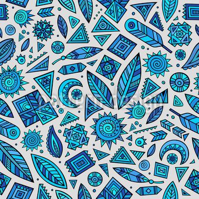 Aztec Splendor Seamless Vector Pattern Design