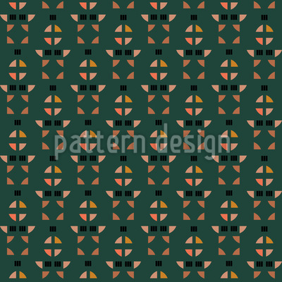 Shape Arrangement Seamless Vector Pattern Design