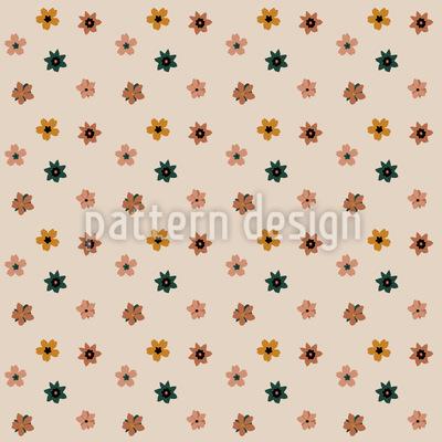 Stilisierte Kleine Blumen Nahtloses Vektormuster