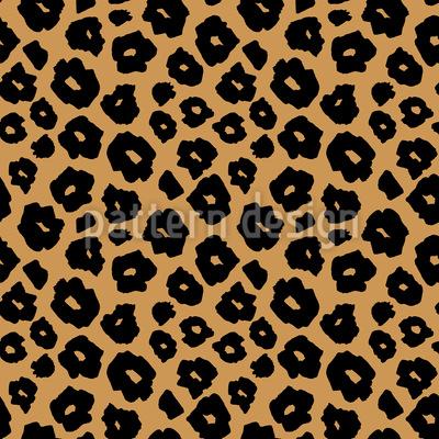 Spotted Jaguar Skin Seamless Vector Pattern Design