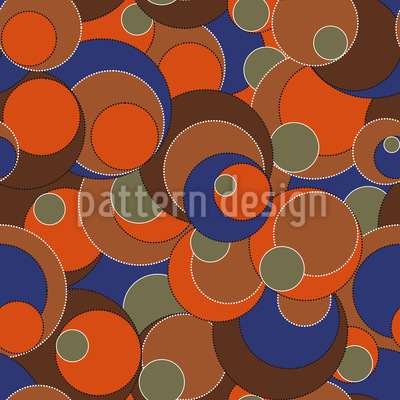 Retro Blubb Seamless Vector Pattern Design