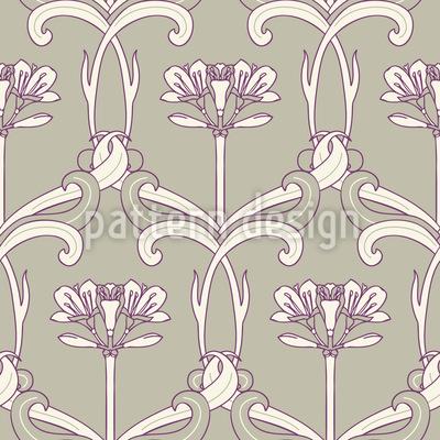 Art Deco Flower Art Seamless Vector Pattern Design