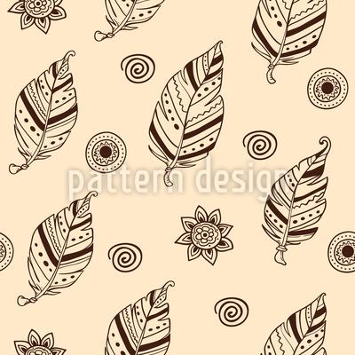 手描きフェザー シームレスなベクトルパターン設計