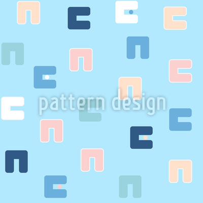 Pastel Shapes Seamless Vector Pattern Design
