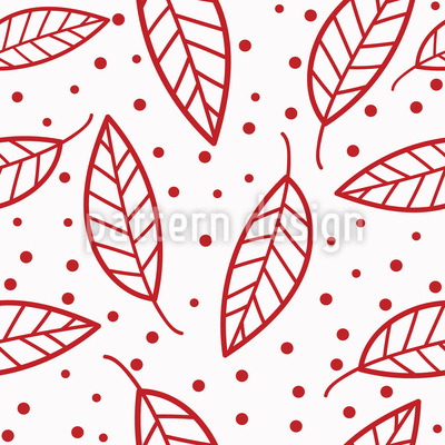 Stylized Leaf Composition Seamless Vector Pattern Design