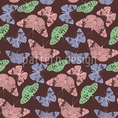 Borboletas com Borboletas Design de padrão vetorial sem costura