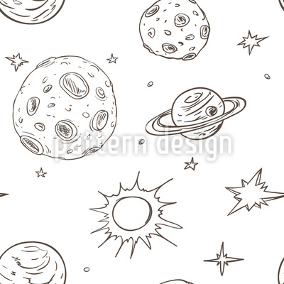 In Outer Space Seamless Vector Pattern Design