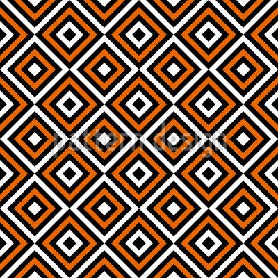 Rhombic Grid Seamless Vector Pattern Design