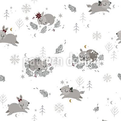 Natal com animais Design de padrão vetorial sem costura