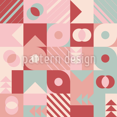 Various Geometry Shapes Seamless Vector Pattern Design