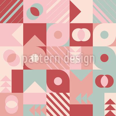 Várias formas de geometria Design de padrão vetorial sem costura